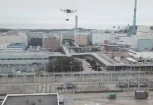 Drone de Greenpeace au-dessus de l'usine de La Hague